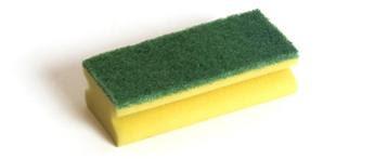 Küürimiskäsn kollane/ rohelise ja kollane / valge abrasiiviga Image